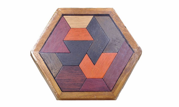 Kids Puzzles Wooden Toys Tangram/Jigsaw Board Wood Geometric Shape P Children Educational Toys 16