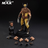 Full set 100176 Double Head Cartoon Wolverine Figure Model Colletible 12'' Action Figure Model Toy for Collection