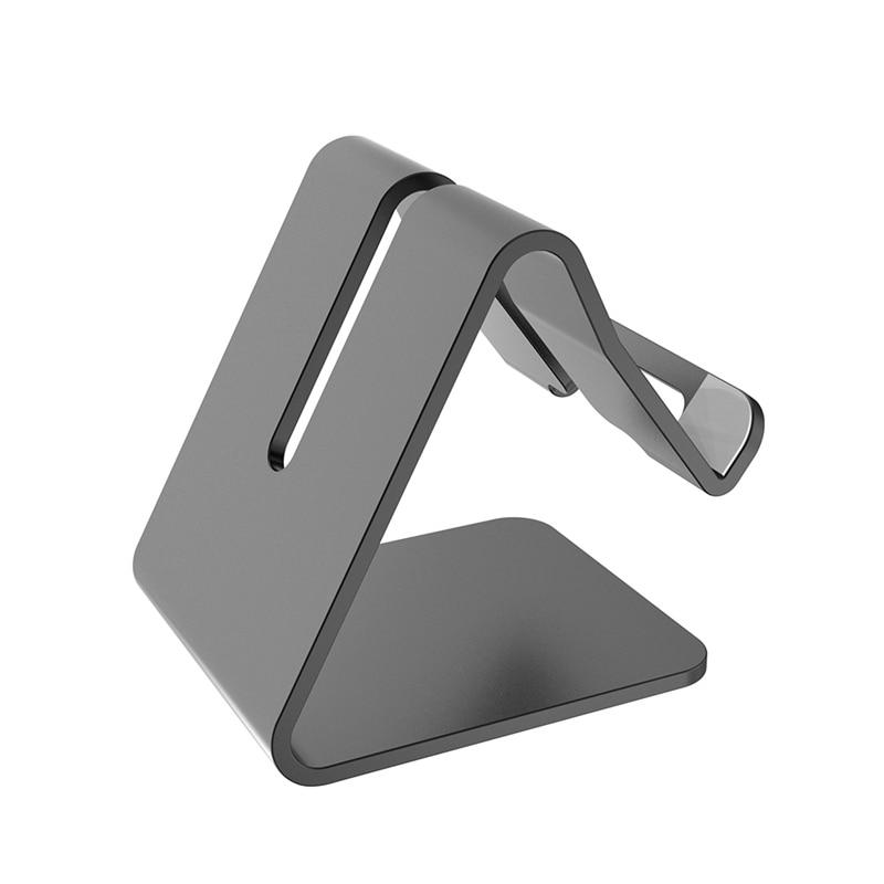 Aerdu Aluminum Metal Phone Tablet Holder Desktop Universal Non-slip Mobile Bracket Stand Holder For IPhone7  8iPad For SamsungS9
