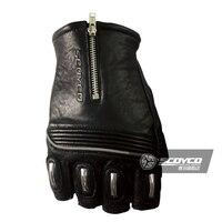 Scoyco genuine leather Motorcycle Gloves Half Finger goat skin Racing Gloves Motorbike MC25 sheepskin protective SWX Moto