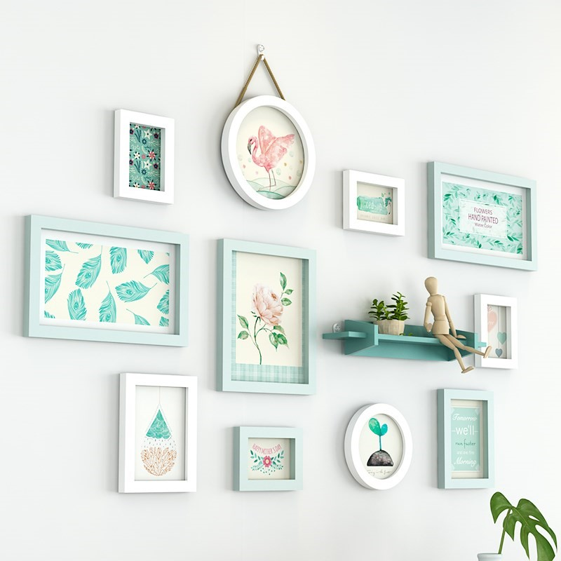 Wall Pictures Frames For Kitchen Wooden Frame For Photos 11 pcs set Photo Frame Combination For