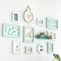 Wall Pictures Frames For Kitchen Wooden Frame For Photos 11 pcs/set Photo Frame Combination For Wedding Decoration Photo Hanging