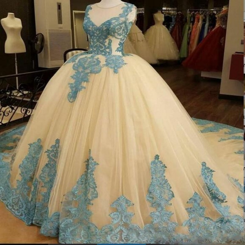 Puffy Elegant   Evening     Dresses   Vestido De Festa Appliques   Evening     Dress   Ball Gown Custom Made Robe De Soiree Lace Up Formal Gowns
