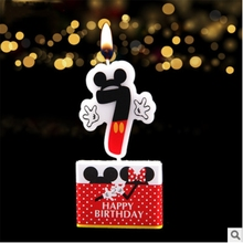 1pc Fashion Mickey Mouse Cake Candle Birthday Party Supplies and Numbers 7 Candle Baby Shower Room Decoration candle birthday girl decoration birthday supplies cake candle cake decorating princess girl pumpkin car birthday candle