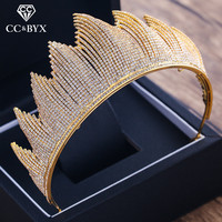 CC wedding jewelry crown tiara hairbands high quality cubic zircon luxury pageant engagement hair accessories for bridal XY310