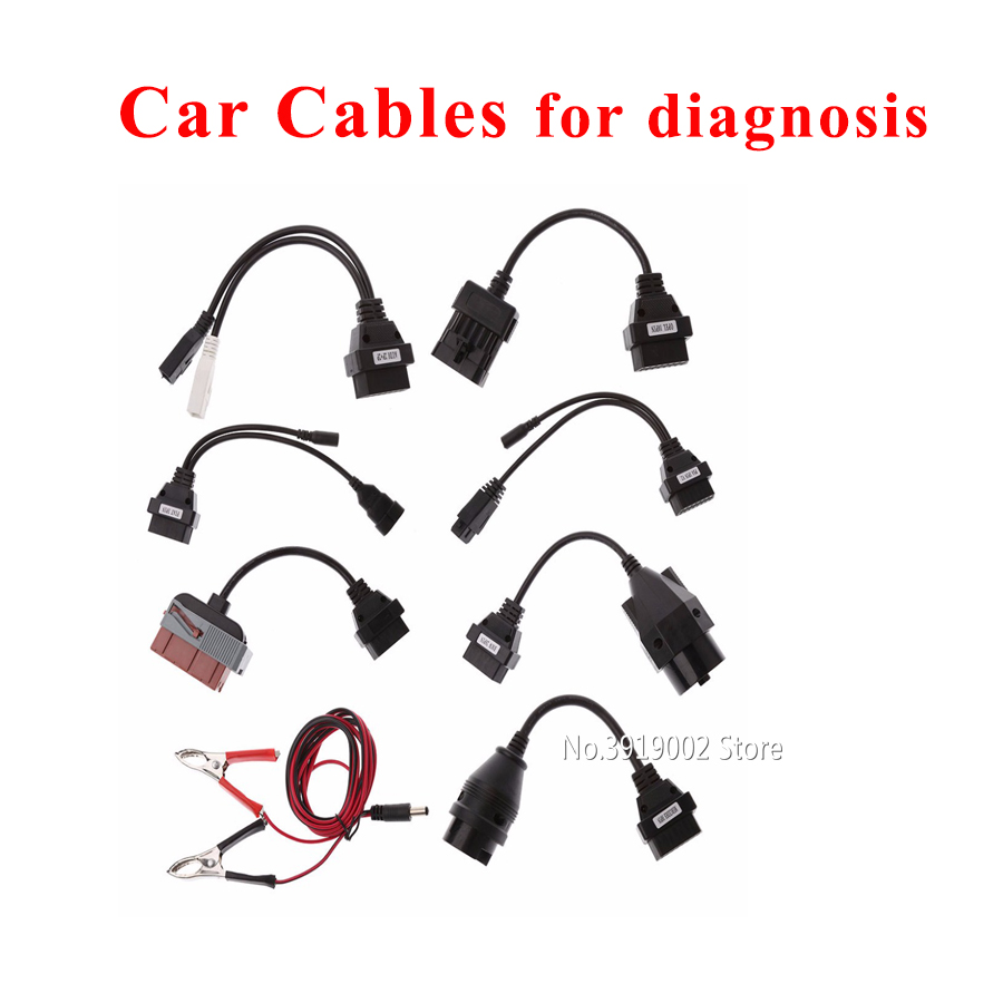 8 Pcs/Set car obd obdii cable for delphis vd ds150e cdp for autocoms cdp pro