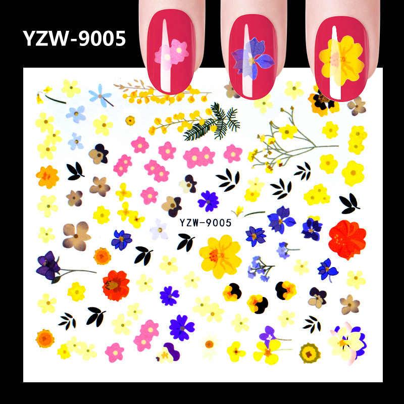 1 adet Tam Güzellik 1 adet Siyah çiçek askılığı Tırnak Su Sticker Yaprak Dantel Tasarım Kaymak Nail Art Çıkartması Güzellik Folyo dekorasyon m2167