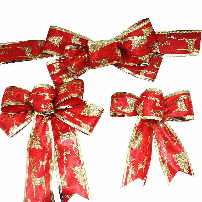 Christmas Tree Bows Decorations: Aliexpress.com : Buy Red Christmas Ribbon Bow Christmas