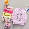 2017 primavera nueva moda de los niños Coreanos de manga larga T shirt de impresión Taobao ropa de niños Al Por Mayor directo de la fábrica mayoristas