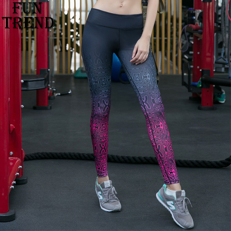 New Women Printed Sport Pants High Waisted Yoga Pants Gym Leggings Running Tights Workout Fitness Running Pant Compression Pants