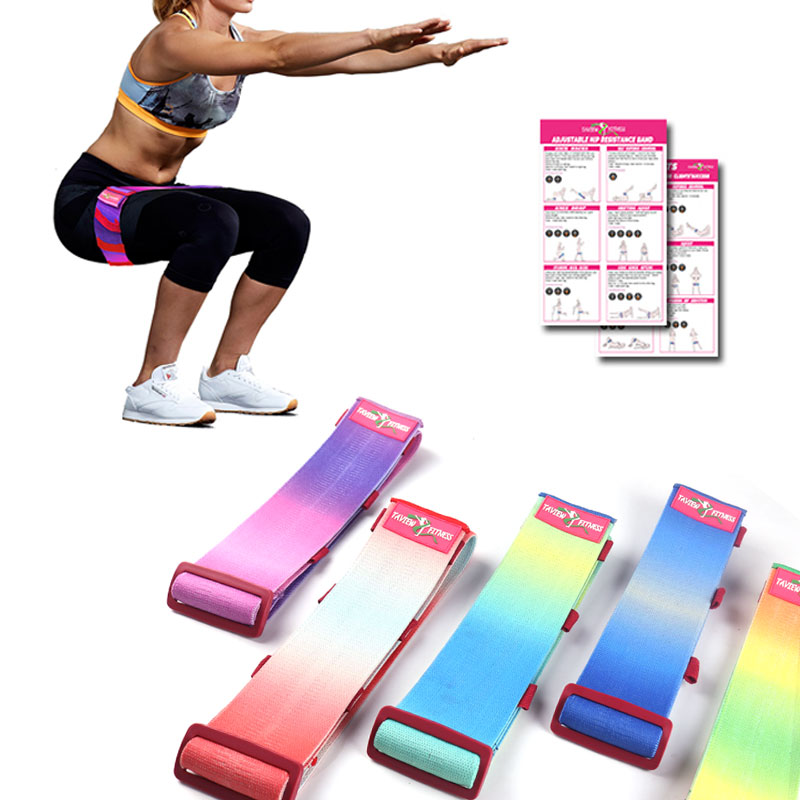 Men&women Hip Resistance Bands Adjustable Booty Leg Exercise Elastic Bands For Gym Yoga Stretching Training Fitness Workout