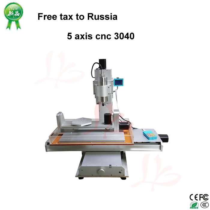 No Tax to Russia 5 axis cnc wood carving machine,Precision Ball Screw cnc router 3040 milling machine no tax to russia miniature precision bench drill tapping tooth machine er11 cnc machinery