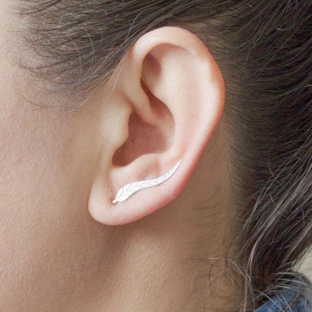 Silver Ear Crawler Earrings For Women