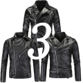 Cheap Punk Motorbike Black Fashion Leather Jackets Men Motorcycle Slim Fit Boy Leather Biker Jacket Male Pu Coat