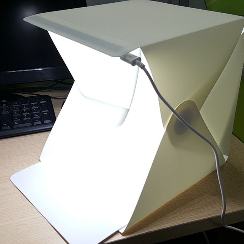 Portable Folding Lightbox Photography Studio Softbox LED Light Soft Box for DSLR Camera Photo Background in Background from Consumer Electronics