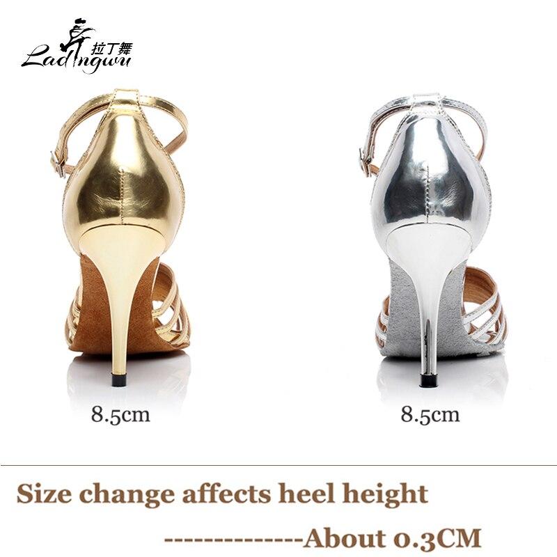 Ladingwu Hot πώλησης χρυσή / ασημένια PU - Πάνινα παπούτσια - Φωτογραφία 3