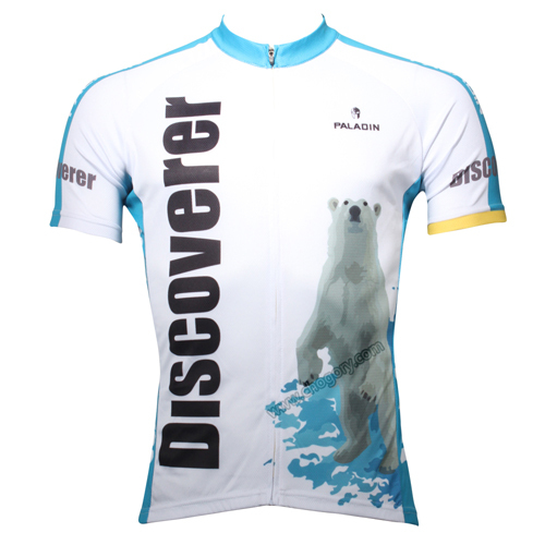 White cute polar bear shirts mountain bike Anti Wrinkle unusual boys road bike jerseys waterproof short and long sleeved image