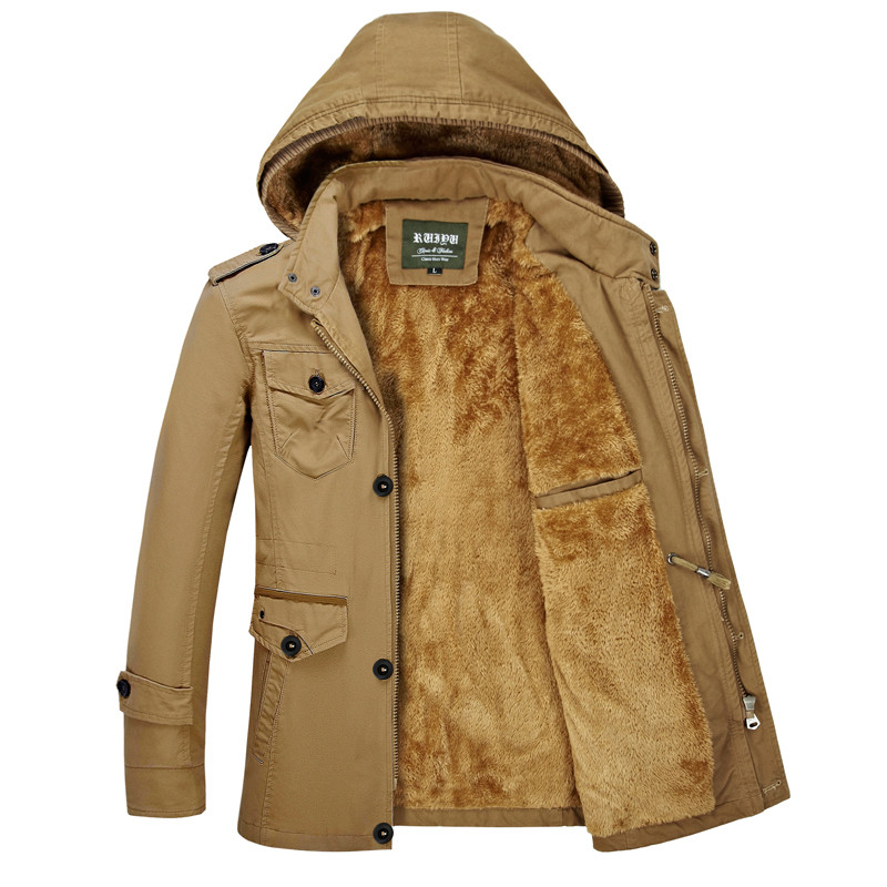 2019 nouvelle mode hiver veste hommes Long épais chaud coton-rembourré vestes manteau Parka pardessus décontracté veste de survêtement grande taille 6XL