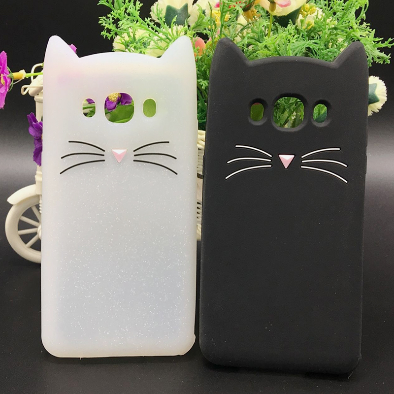 Cat Phone Case For Samsung Galaxy A5 A7 A3 2017 J1 J3 J5 J7 2016 Grand Prime S6 S7 S8 Ed ...