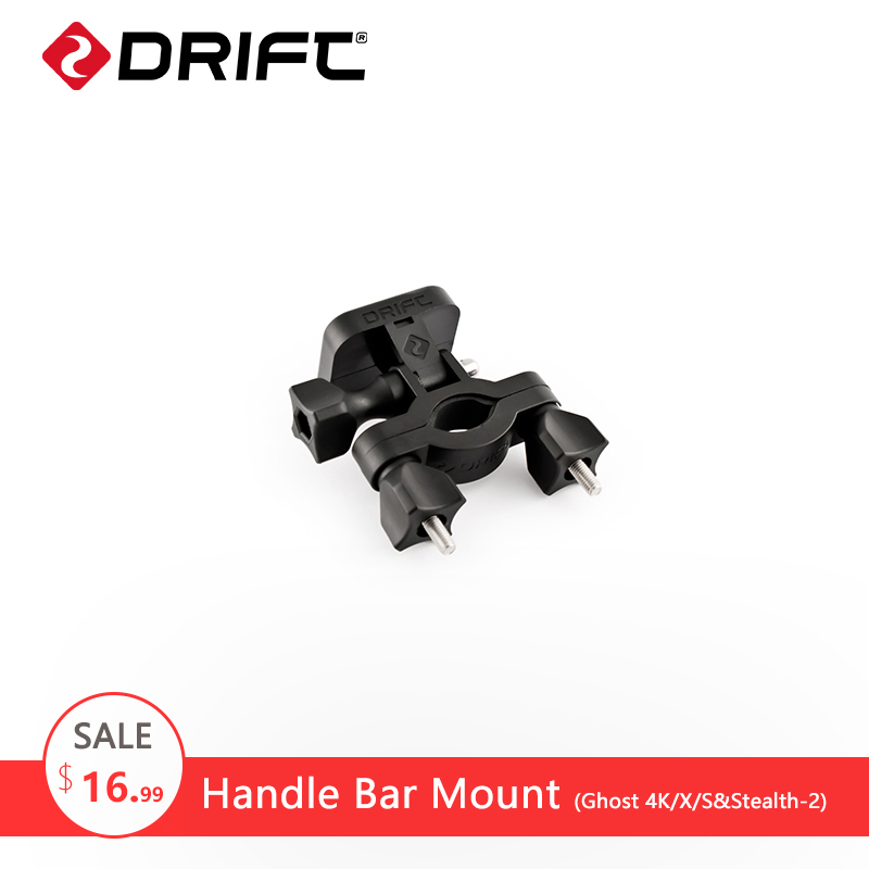 DRIFT Handlebar Bracket Mount Motorcycle Bicycle Bike Holder Accessories for Ghost 4k/S/X Stealth-2 gopro xiaomi Action Camera