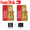 Free shipping SanDisk Memory Card Extreme microSD UHS-I microSDXC Class10 U3 90MB/S 32GB 64GB TF Card Support 4K UHD