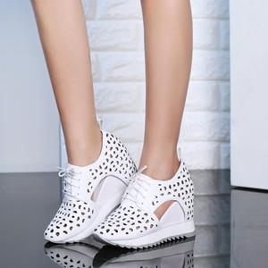 Zorssar-женские туфли на высоком каблуке из коровьей кожи, дышащие повседневные туфли на лето 2019
