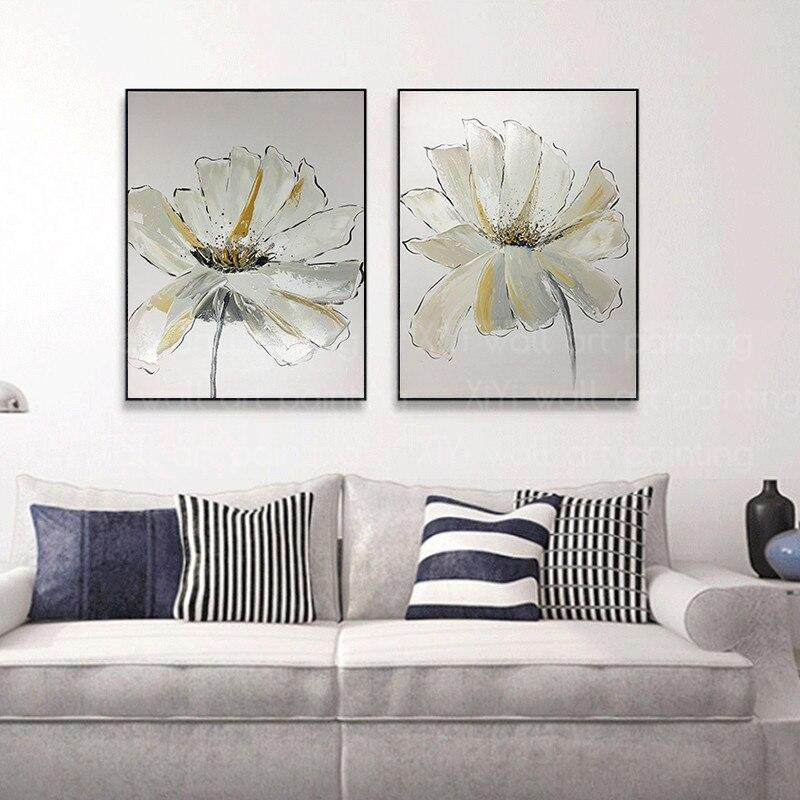 Or art fleur abstraite peinture à l'huile sur toile mur art photos pour salon maison couloir mur décor acrylique texture quadro