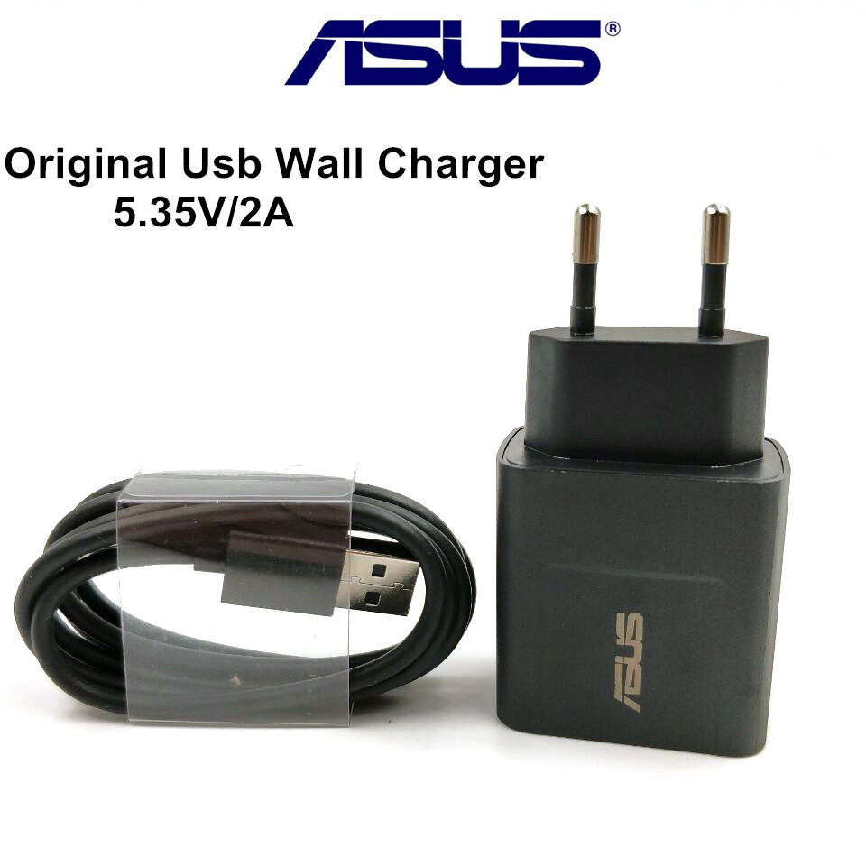 Original ASUS charger Zenfone 3 5 2 max ze551ml 5.35V/2A USB wall power AC Adapter charge Micro usb Cable