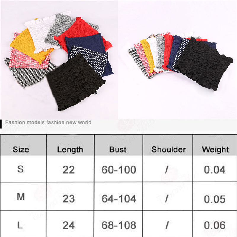 US Women Off Shoulder Elastic Tube Tops Strapless Bandeau Ruched Crop Tops in Tank Tops from Women 39 s Clothing