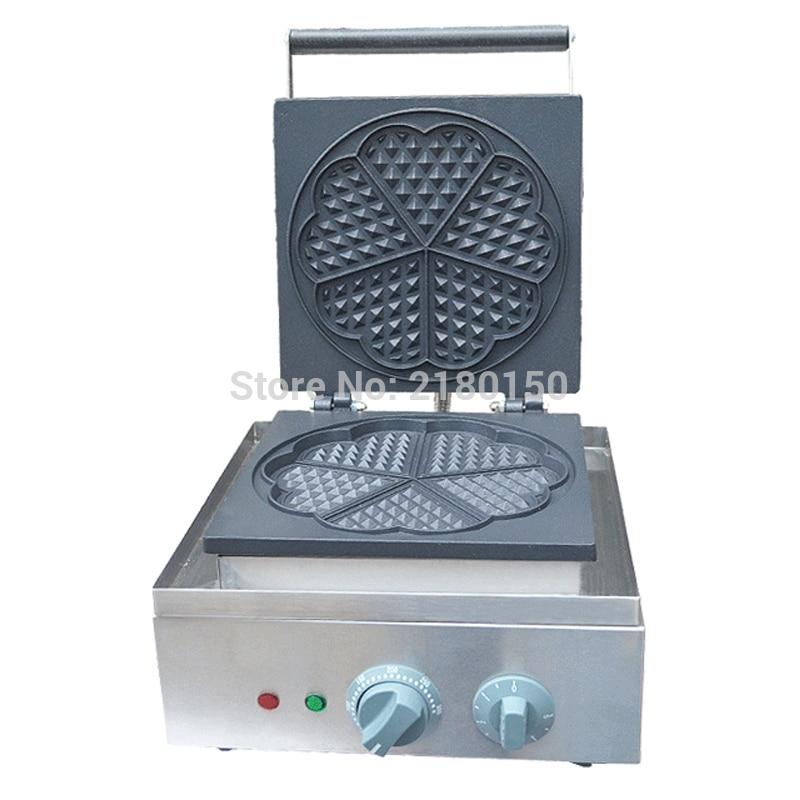 Elettrico a Forma di Cuore Stampo Waffle Maker Mini Plaid Torta Che Fa La Macchina Forno di Riscaldamento Della Macchina FY 215