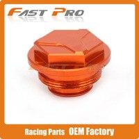 Orange CNC Billet Rear Brake Cylinder Fluid Reservoir Cap For KTM SXF SX EXC EXCF 125