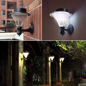 Image 4 - TRANSCTEGO שמש גן 32 נוריות אור Led חיישן מנורת קיר שמש רחוב אורות כוח חיצוני עמיד למים Luminaria סוללה מנורות