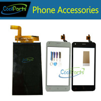 High Quality Black Color For Fly FS454 LCD Display And Touch Screen Digitizer 1PC Lot