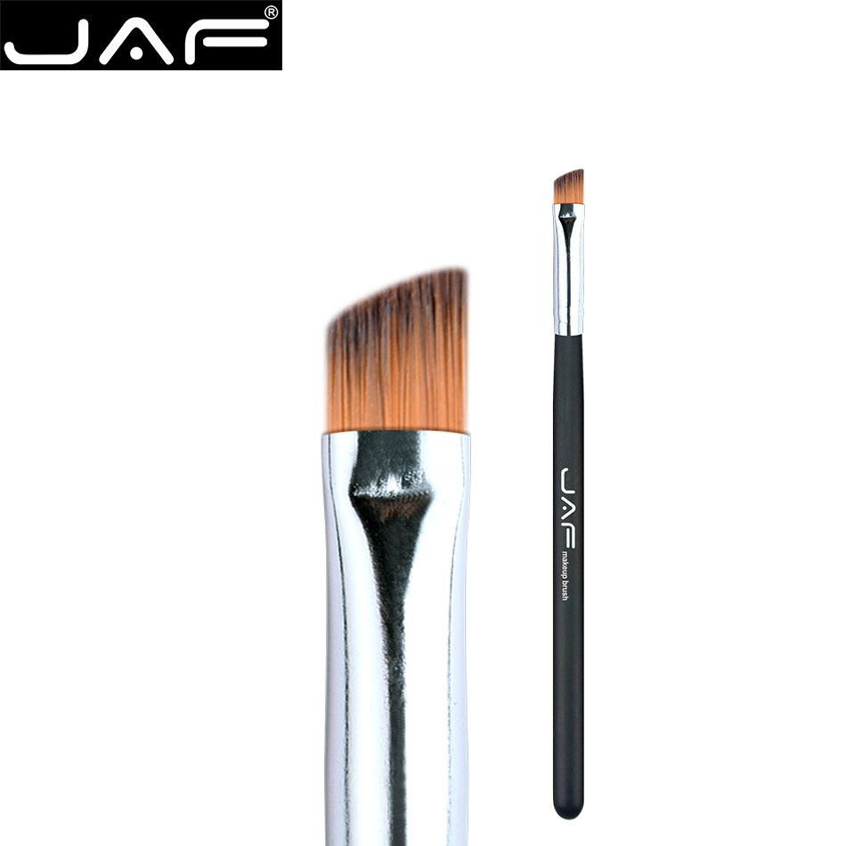 JAF Synthetic hair Professional Daily Eyeliner Eyebrow Brush Angled Eye Liner Makeup Brush Tool Make Up Eyeliner Brushes 04SBYA 7pcs makeup brushes professional fashion mermaid makeup brush synthetic hair eyebrow eyeliner blush cosmetic