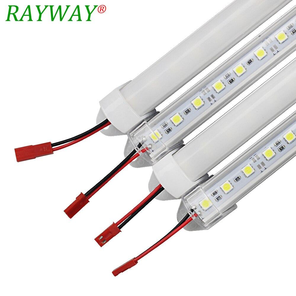 Tubo LED bares DC12V 5050 LED duro rígido rojo azul verde LED tira de luz con forma de barra cubierta de aluminio de la cocina tira de luz transparente Vía Láctea Tira de LED SMD 2835 60led ip22 12v murió