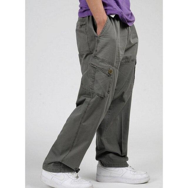 Высокое качество мужские Брюки-Карго Весной Мужской Hip Hop Свободные мужчины Брюки брюки Плюс Размер XL 2XL 3XL 4XL 5XL 6XL