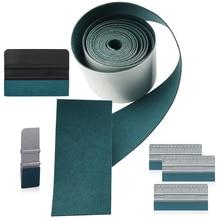 EHDIS 100CM No Scratch Suede Fabric Edge for Carbon Fiber Film Squeegee Vinyl Car Wrap Auto Window Tint Scraper Protective Cloth недорого