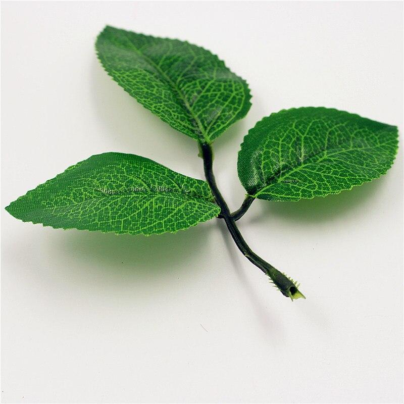 Новое поступление 100 шт./лот искусственных цветов, листьев Высокая моделирования листья на нейлоновый чулок Свадебная вечеринка украшение 8,5*12 см