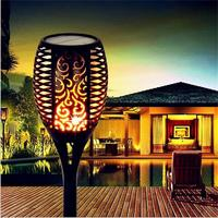 LED Solar Torch Lights with flame Waterproof Garden Light Lawn Path torch 96 LEDs Outdoor lighting LED Fire Decoration Lamps