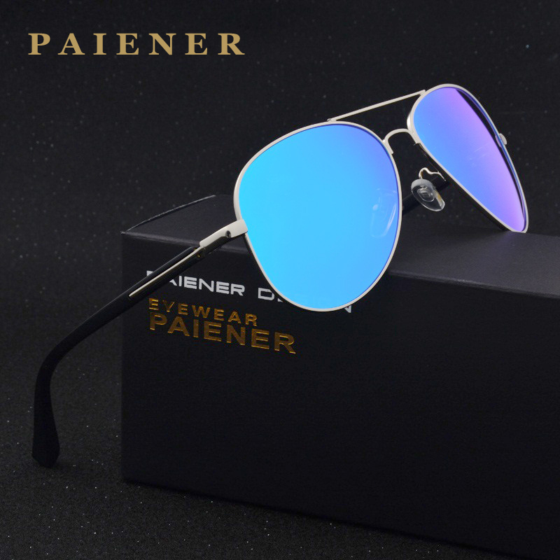 New Brand design Fashion Unisex Sun Glasses Polarized 4 Color Coating Mirror Driving Sunglasses Male Eyewear For Men / Women