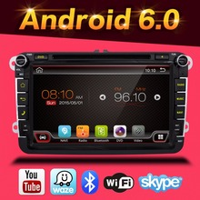 Android 6.0 2 din radio del coche de VW dvd vw passat b6 polo vw golf 5 golf 4 touran sharan t5 caddy con GPS navigator directivo