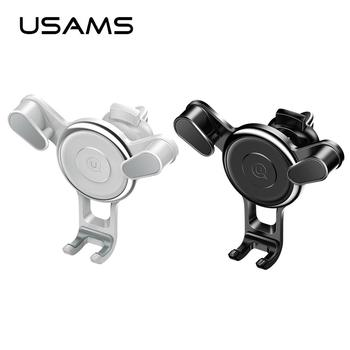 USAMS US-ZJ034 Car Air Vent Mount Holder Stand 360 Rotation Mobile Phone Support Car Holder For Samsung S8 S9 Plus Accessories mobile phone car vent holder