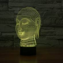 cheap Hot selling 3d effect buddha shape touch light lamp FS-2929,image LED lamps offers