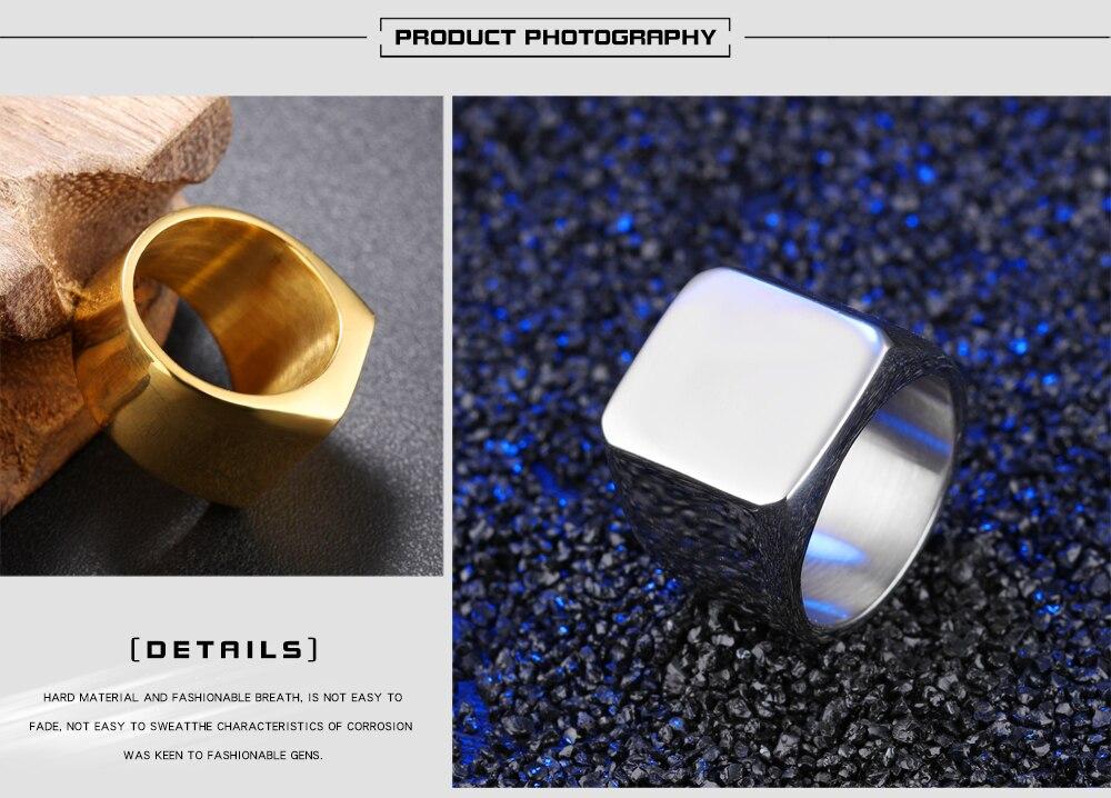 HTB1fMRJaojrK1RkHFNRq6ySvpXae - ZooMango Free Engraving Stainless Steel Men's Big Ring Wedding Anniversary White/Black/Gold Color Wide Ring Jewelry