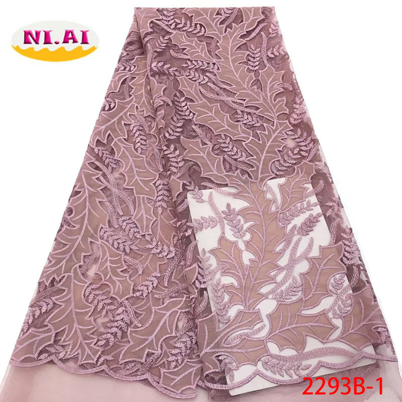 2018 Latest French Nigerian Laces Fabrics High Quality Tulle African Laces Fabric Wedding French Tulle Lace