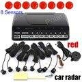 hot sale 9 colors to choose Car Parking sensor 8 sensors Buzzer Backup Radar Detector System Reverse Sound Alert