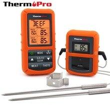 ThermoPro TP 20 uzaktan kablosuz dijital et barbekü, fırın termometresi ev kullanımı paslanmaz çelik Probe büyük ekran zamanlayıcı ile
