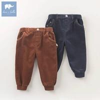 DB5965 dave bella autumn infant baby boys 100% cotton full length fashion pants children toddler pants boys trousers