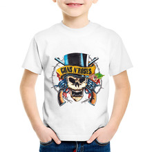 Guns N Roses Print T-Shirt Boys Girls Toddlers Kids