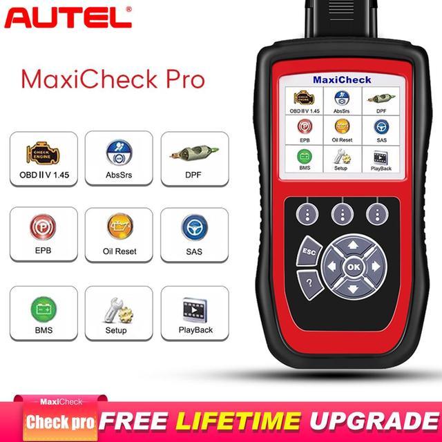 Autel MaxiCheck Pro herramienta de diagnóstico de coche, escáner OBD2, EPB/ABS/SRS/SAS/Airbag/reinicio del servicio de aceite/BMS/DPF, launch x431 elm327